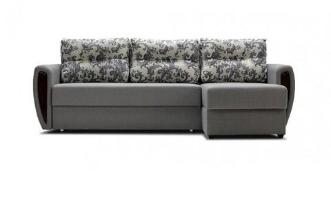 Угловой диван-еврокнижка Мекс 150, комплектация 8, серый