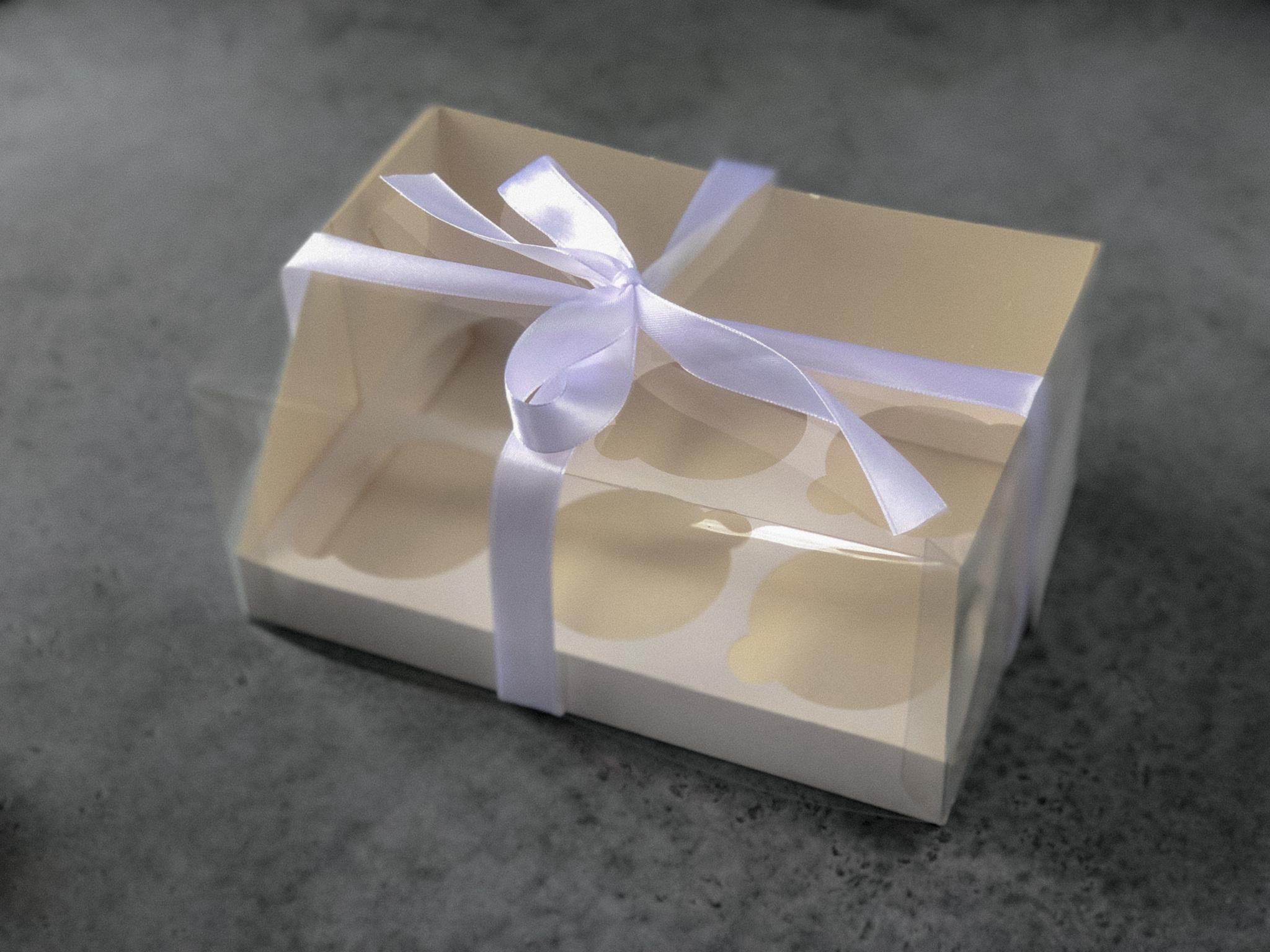 Коробка на 6 капкейков с прозрачной крышкой, 23,5x16x10 см