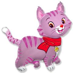 F Мой милый котенок в шарфике (розовый), 37