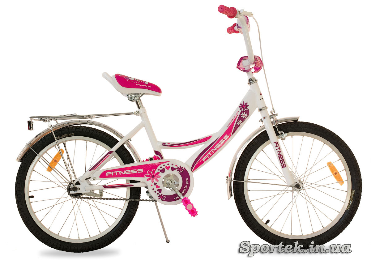 Бело-красный велосипед для девочек Formula Fitness 2015 с колесами 20 дюймов