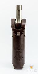 Фляга бутылка «Россия»,  в коричневом кожанном чехле, 800 мл, фото 1
