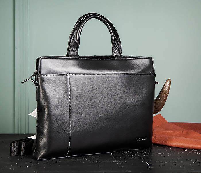 BAG486-1 Деловая кожаная мужская сумка с ремнем на плечо