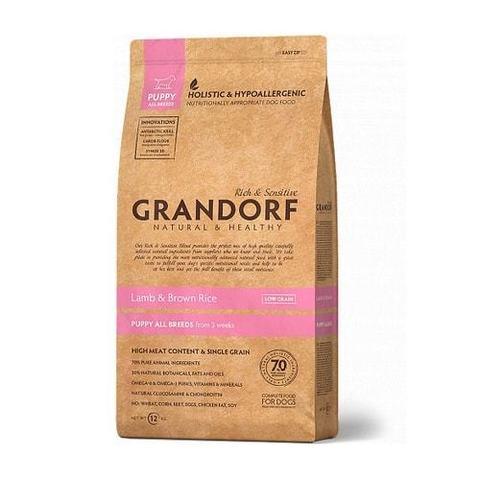 Сухой корм для щенков Grandorf гипоаллергенный, ягненок, с коричневым рисом 12 кг