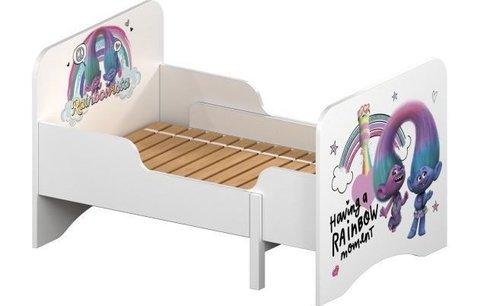 Кровать детская раздвижная Polini kids Fun 3200 Тролли, розовый