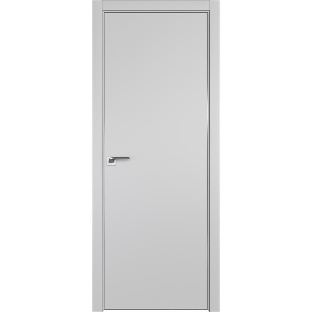 Офисные двери Межкомнатная дверь экошпон Profil Doors 1E манхэттен алюминиевая матовая кромка с 4-х сторон 1E_Mankhetten_CHROME_MAT.jpg