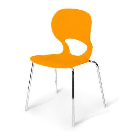 Стул пластиковый для кафе и фудкорта SHF-056-O Orange