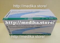 450085 Иглы-бабочки Safety в комплекте с луэр-адаптером и держателем для систем взятия венозной крови Vаcuette® Фасовка: 24 шт/уп, Greiner Bio-One GmbH / Грейнер Био-Уан ГмбХ, Австрия