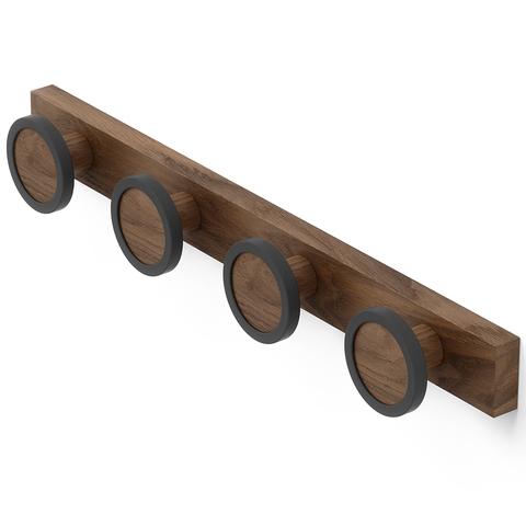 Вешалка настенная Hub Rail темный орех