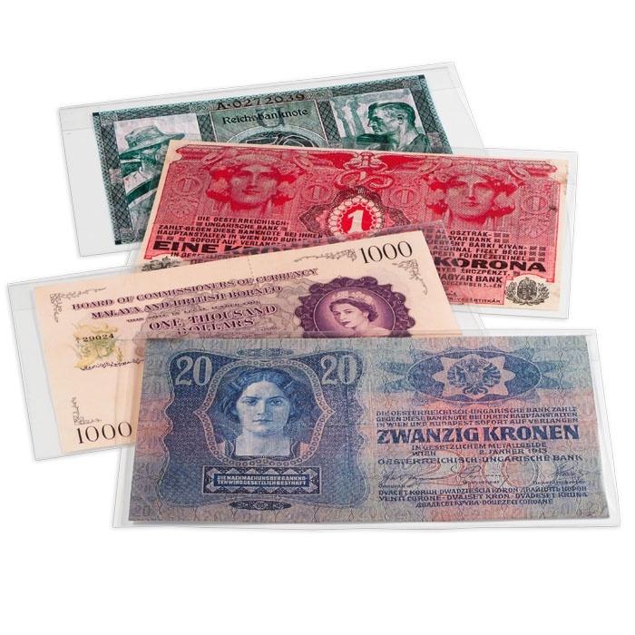 Защитный пластиковый конверт PREMIUM для банкнот, 160x75 mm