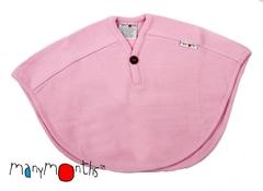 Пончо ManyMonths, 0-4,5/5 лет (50-104/110 см), Нежно-розовый (шерсть мериноса 100%)