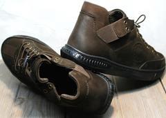 Туфли спортивные мужские кожаные на осень Luciano Bellini 71748 Brown