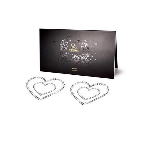 Bijoux Indiscrets Украшение на грудь Mimi Heart серебряное