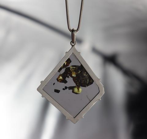 Кулон с метеоритом Сеймчан