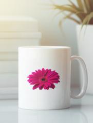 Кружка с изображением Цветы (Герберы) белая 002