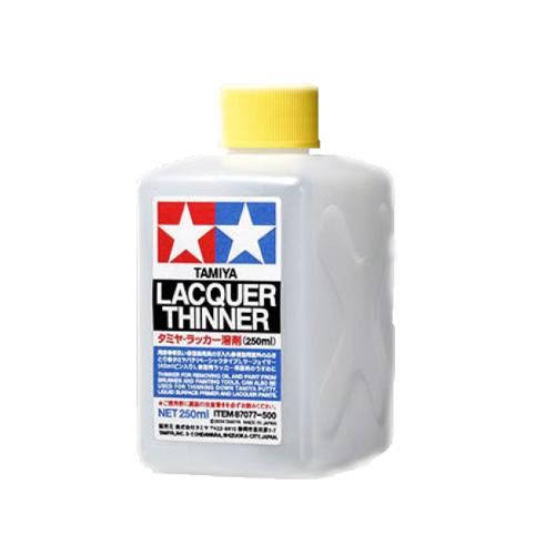 Вспомогательные жидкости Tamiya Lacquer Thinner Лаковый разбавитель, 250 мл 87077.jpg