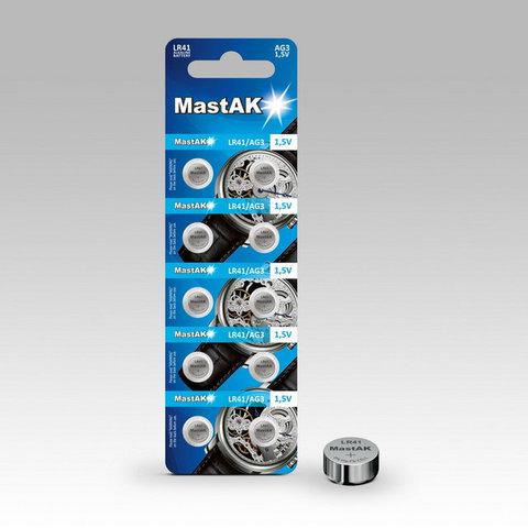 Батарейки MastAk AG 3 (384, LR-41) 10 BL