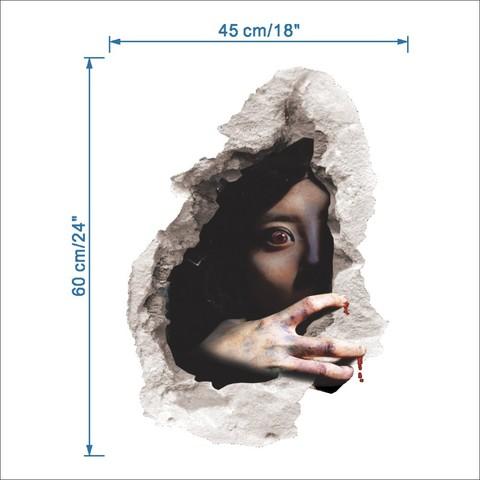 Ужасы 3D наклейка Ночной кошмар