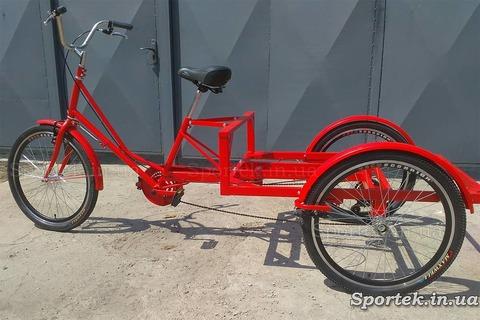 Трехколесный грузовой велосипед 'Рекламный' для уличной торговли и рекламы с 24 колесами