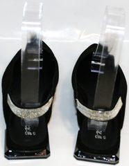 Летние женские туфлии на низком каблуке Kluchini 5183 Black.