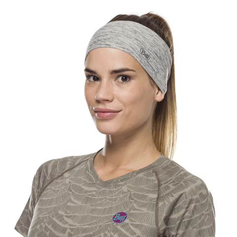 Повязка-чалма летняя Buff Headband Tapered CoolNet Silver Grey Htr фото 1