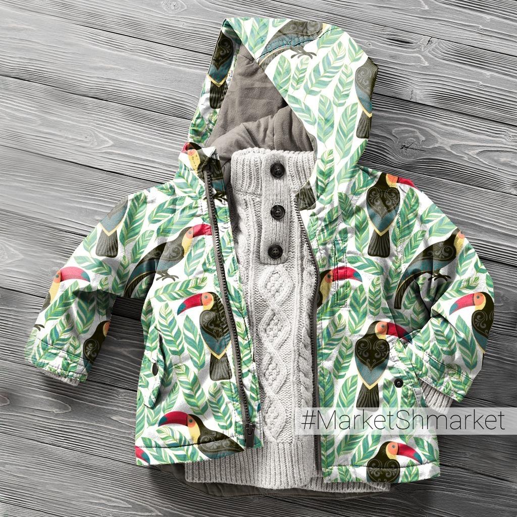 Туканы  и тропические листья. TROPICANA. (Дизайнер Irina Skaska)