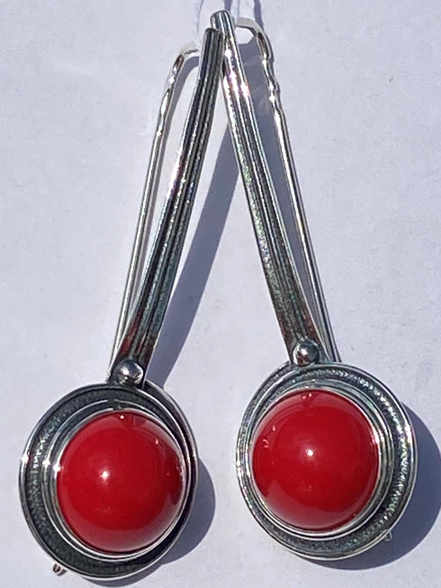Бава (серьги из серебра)