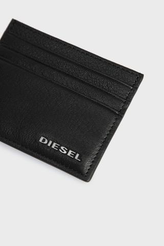 Мужская черная кожаная визитница THEBEIS Diesel