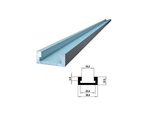 Профиль-шина 30,4 мм, анод., серебро матовое, 2 м TR030.2000