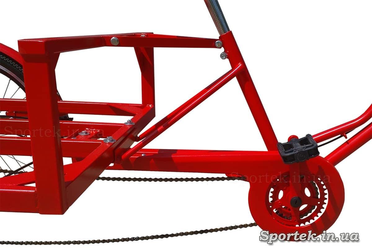 Рама и защита цепи трехколесного велосипеда 'Рекламный'
