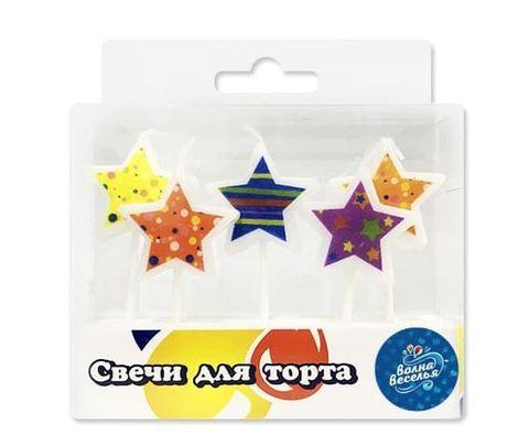 Свечи фигурные, Звезды, 7 см, 5 шт.