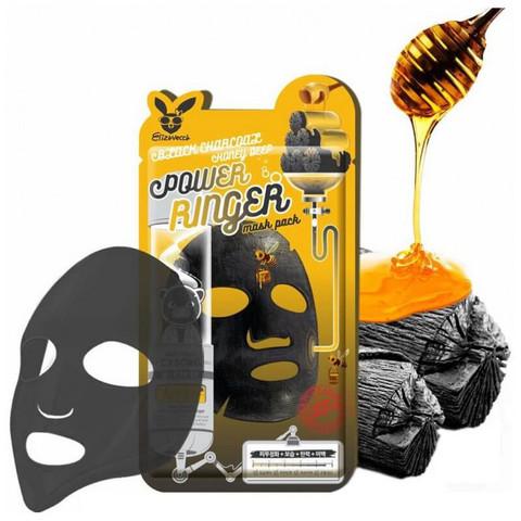 Elizavecca Маска восстанавливающая с медом Black Charcoal Honey Deep Power Ringer Mask Pack 23 мл