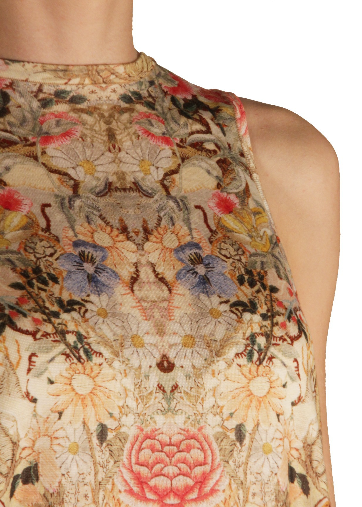Платье из шерсти ALEXANDER MCQUEEN