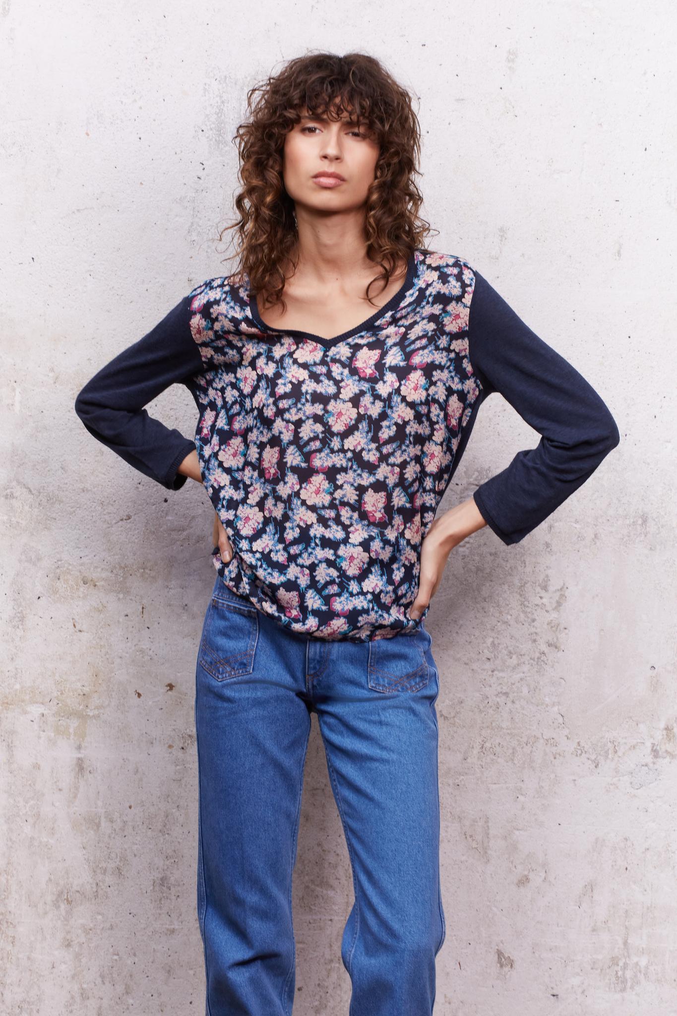 ALEXIE - Пуловер с цветочным принтом