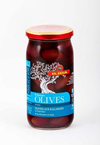 Оливки Каламата в рассоле Ilida 350 гр