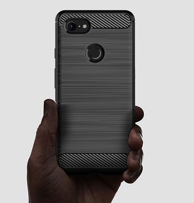 Чехол защитный серого цвета для Google Pixel 3, серия Carbon от Caseport