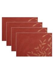 Комплект из 4-х прямоугольных кухонных термосалфеток Dutamel плейсмат салфетка сервировочная - оранжевые узоры DTM-022 45*30 см