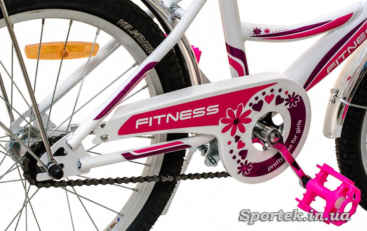 Трансмиссия и заднее колесо велосипеда для девочек Formula Fitness 2015