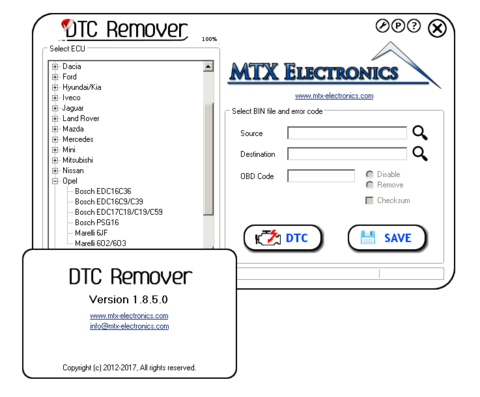DTC Remover 1.8.5.0