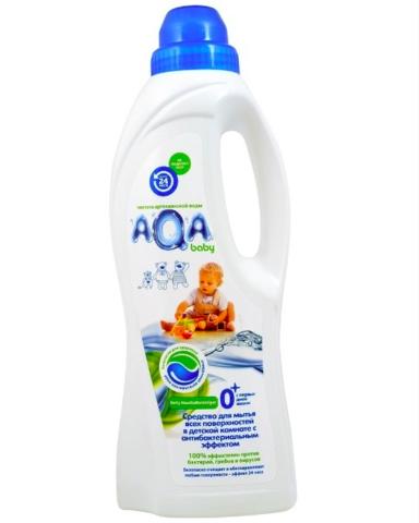 AQA baby. Средство для мытья поверхностей в детской комнате с антибактериальным эффектом, 700 мл