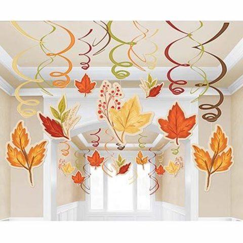 Спирали Осенние Листья, 30 штук