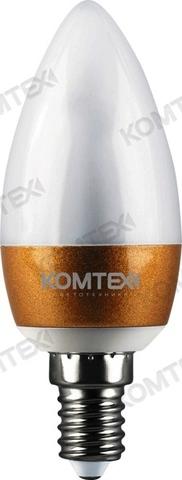 КОМТЕХ Лампа СДЛ-Cз-3-220-830-200-E14 бронза (свеча)