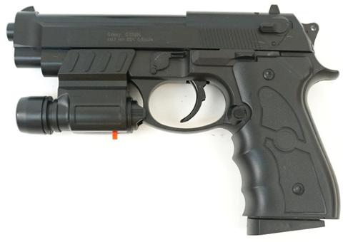 Страйкбольный пистолет Galaxy G.052BL Beretta 92 с ЛЦУ пластиковый, пружинный