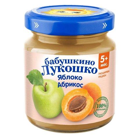 Пюре из яблок  и абрикосов Бабушкино Лукошко 100 г. (5+ мес.)