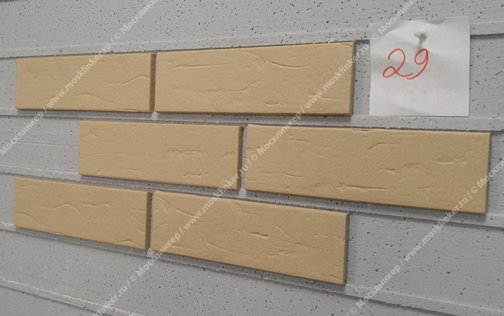ABC - Objekta, Beige, genarbt, 240х71х10, NF - Клинкерная плитка для фасада и внутренней отделки