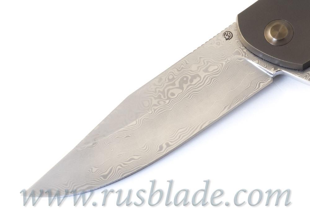 Cheburkov Wolf 2019 Damascus Folding Knife - фотография