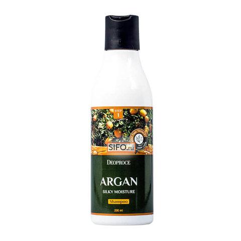Шампунь для волос с аргановым маслом DEOPROCE ARGAN SILKY MOISTURE SHAMPOO 200 мл