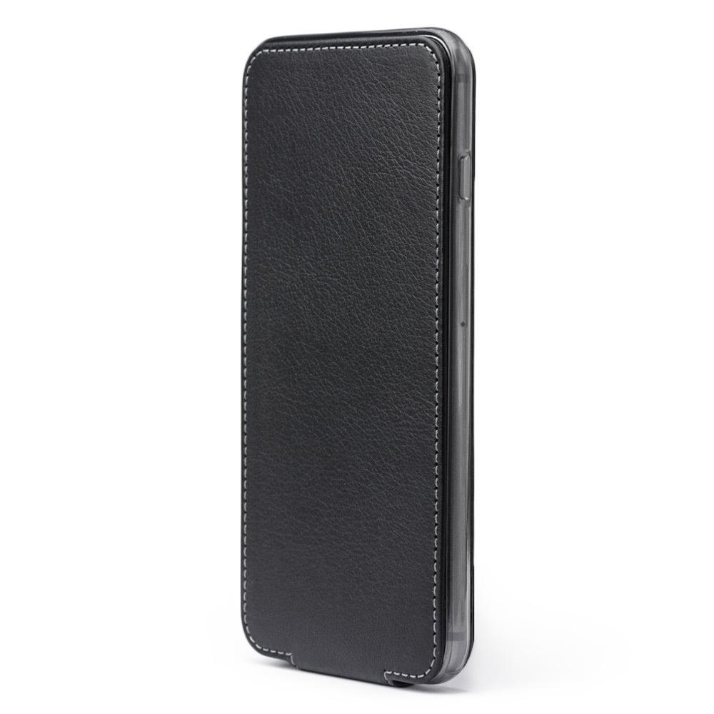 Чехол для iPhone 6/6S из натуральной кожи теленка, черного цвета