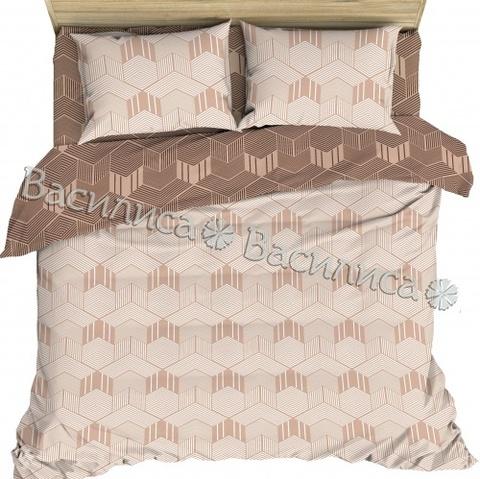 Постельное белье бязь Евро  Василиса 70х70 рис 7655/1