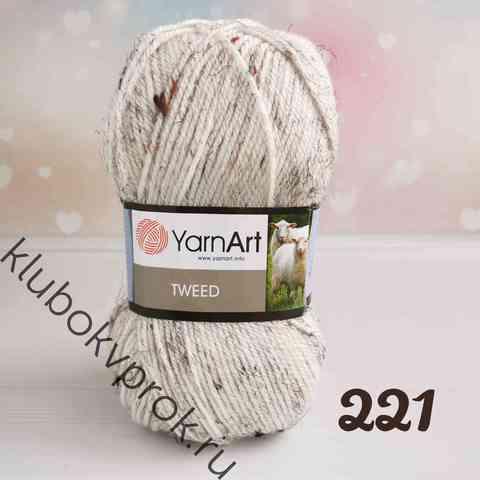YARNART TWEED 221, Молоко