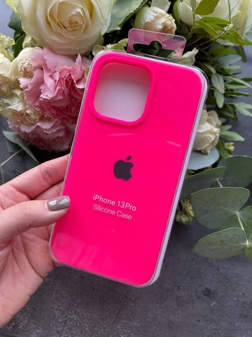 Чехол iPhone 13 Pro Silicone Case Full /electric pink/